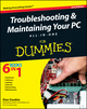 Troubleshooting and Maintaining Your PC All-in-One For Dummies, 2nd Edition (1118067444) cover image