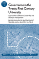 Governance in the Twenty-First-Century University: Approaches to Effective Leadership and Strategic Management: ASHE-ERIC Higher Education Report, Volume 30, Number 1 (1118216644) cover image
