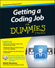 Getting a Coding Job For Dummies (1119050944) cover image