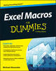 Excel Macros For Dummies (1119089344) cover image