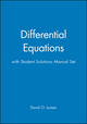 Differential Equations with Student Solutions Manual Set (0471756245) cover image