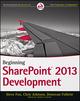 Beginning SharePoint 2013 Development (1118495845) cover image