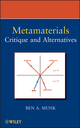 Metamaterials: Critique and Alternatives (0470377046) cover image