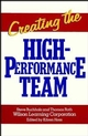 Creating the High Performance Team (0471856746) cover image