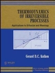 Thermodynamics of Irreversible Processes: Applications to Diffusion and Rheology (0471948446) cover image