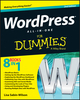 WordPress All-in-One For Dummies, 2nd Edition (1118383346) cover image
