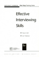 Effective Interviewing Skills Participant Workbook (1854333046) cover image