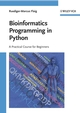 Bioinformatics Programming in Python: A Practical Course for Beginners (3527320946) cover image