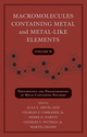 Macromolecules Containing Metal and Metal-Like Elements, Volume 10: Photophysics and Photochemistry of Metal-Containing Polymers (0470597747) cover image