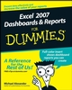 Excel 2007 Dashboards and Reports For Dummies (0470228148) cover image