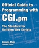 Official Guide to Programming with CGI.pm (0471247448) cover image
