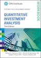 Quantitative Investment Analysis Workbook, 3rd Edition (1119104548) cover image
