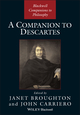 A Companion to Descartes (1405121548) cover image