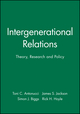 Intergenerational Relations: Theory, Research and Policy (1405185848) cover image