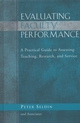 Evaluating Faculty Performance: A Practical Guide to Assessing Teaching, Research, and Service (1933371048) cover image