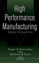 High Performance Manufacturing: Global Perspectives (0471388149) cover image