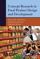 Concept Research in Food Product Design and Development (0813824249) cover image