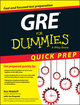 GRE For Dummies Quick Prep  (1119068649) cover image
