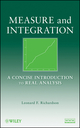 Measure and Integration: A Concise Introduction to Real Analysis  (047025954X) cover image