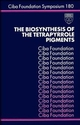 The Biosynthesis of the Tetrapyrrole Pigments (047051454X) cover image
