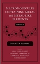 Macromolecules Containing Metal and Metal-Like Elements, Volume 4: Group IVA Polymers (047171254X) cover image