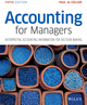Accounting for Managers: Interpreting Accounting Information for Decision Making, 5th Edition (111900294X) cover image