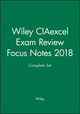 Wiley CIAexcel Exam Review Focus Notes 2018 Complete Set