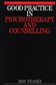 Good Practice in Psychotherapy and Counselling (186156144X) cover image