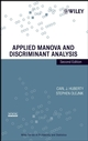 Applied MANOVA and Discriminant Analysis, 2nd Edition (0471468150) cover image