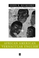 African American Vernacular English: Features, Evolution, Educational Implications (0631212450) cover image