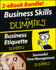 Business Skills For Dummies Two eBook Bundle: Business Etiquette For Dummies and Successful Time Management For Dummies (1118595750) cover image