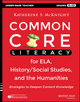 Common Core Literacy for ELA, History/Social Studies, and the Humanities: Strategies to Deepen Content Knowledge (Grades 6-12) (1118710150) cover image