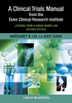 A Clinical Trials Manual From The Duke Clinical Research Institute: Lessons from a Horse Named Jim, 2nd Edition (1405195150) cover image