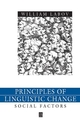 Principles of Linguistic Change, Volume II, Social Factors  (0631179151) cover image