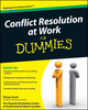 Conflict Resolution at Work For Dummies (0470595752) cover image