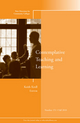 Contemplative Teaching and Learning: New Directions for Community Colleges, Number 151 (0470938552) cover image