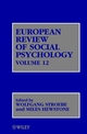 European Review of Social Psychology, Volume 12 (0471486752) cover image