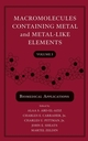 Macromolecules Containing Metal and Metal-Like Elements, Volume 3: Biomedical Applications (0471683752) cover image