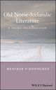 Old Norse-Icelandic Literature: A Short Introduction (0631236252) cover image