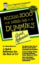 Access 2000 for Windows For Dummies Quick Reference (0764504452) cover image