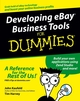 Developing eBay Business Tools For Dummies (0764589652) cover image