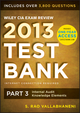 Wiley CIA Exam Review 2013 Online Test Bank 1-Year Access: Part 3, Internal Audit Knowledge Elements (1118551052) cover image