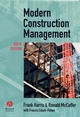 Modern Construction Management, 6th Edition (1405133252) cover image