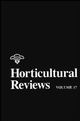 Horticultural Reviews, Volume 17 (0471573353) cover image