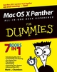 Mac OS X Panther All-in-One Desk Reference for Dummies (0764543253) cover image