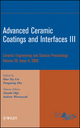 Advanced Ceramic Coatings and Interfaces III: Ceramic Engineering and Science Proceedings, Volume 29, Issue 4 (0470344954) cover image