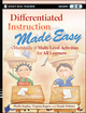 Differentiated Instruction Made Easy: Hundreds of Multi-Level Activities for All Learners (0470372354) cover image