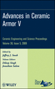 Advances in Ceramic Armor V, Volume 30, Issue 5 (0470457554) cover image