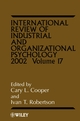 International Review of Industrial and Organizational Psychology, Volume 17, 2002 (0470842954) cover image