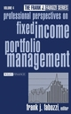 Professional Perspectives on Fixed Income Portfolio Management, Volume 4 (0471268054) cover image